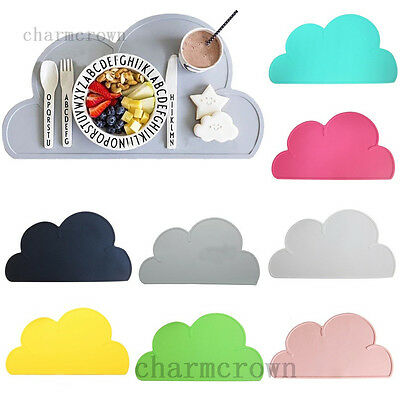 Silicone Cloud Insulation Kitchen Placemat Kid Baby Pad Dining Table Mat Coaster
