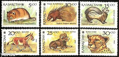 Kazakhstan - 1993 - Fauna of Kazakhstan, Animals, 6v