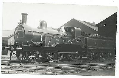 NORTH EASTERN RAILWAY - NER Steam Loco no.1506  Moore Real Photo Postcard