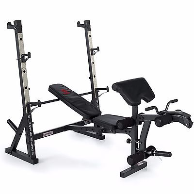 Marcy MD857 Diamond Elite Olympic Adjustable Weight Bench with Power Squat Rack