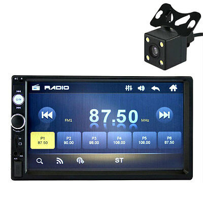 7 Inch HD Bluetooth Touch Screen Car Stereo 2 DIN MP5 with Reversing Camera