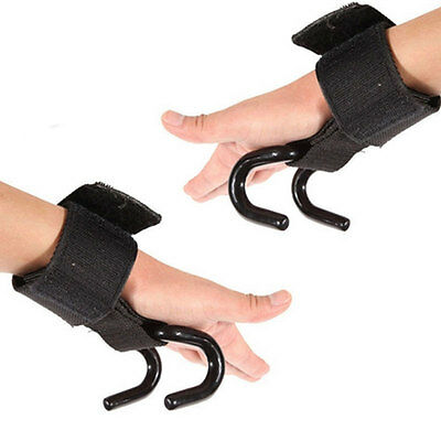 Professional Weight Lifting Hook Grip Glove Wrist Support Gym Strength Training