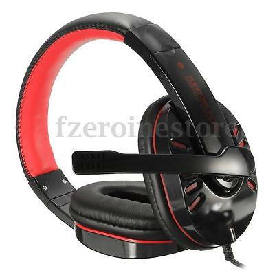 Wired Gaming Headset Headphones w/ Microphone / Voice Control for PS4 Xbox One