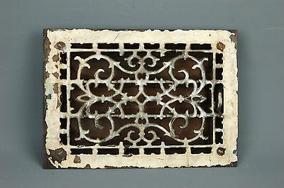 "Antique Aesthetic Movement cast Iron Heat REGISTER VENT GRATE 14""x 10"" Steampunk"