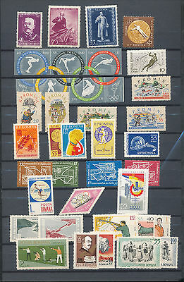 ROMANIA 1960s Sport Lenin MNH(Approx 40 Stamps )  KS5700