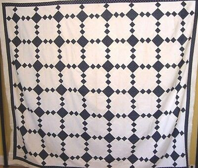 Large Antique Quilt Top  Chain Variation 1880  *  350 More In Our Ebay Store