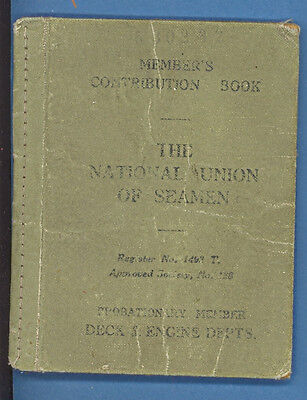 National Union Of Seamen Green's Home Branch 1938   M 2140