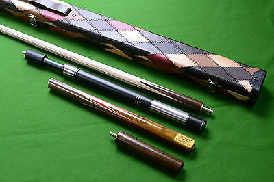 Collection Welcome - 3/4 Handmade Ash Snooker/pool Cue Set With Case Extension