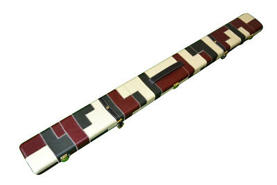 Handmade 3/4 Three Compartments Wide Patch Diamond Design Snooker Cue Case