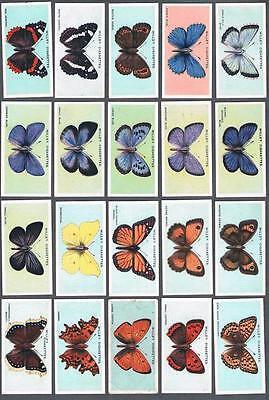 1927 Wills's Cigarettes British Butterflies Tobacco Cards Complete Set of 50