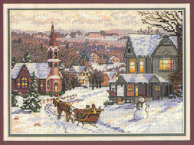 Dimensions Gold Collection Petites The Sleigh Ride Cross Stitch Chart & Threads