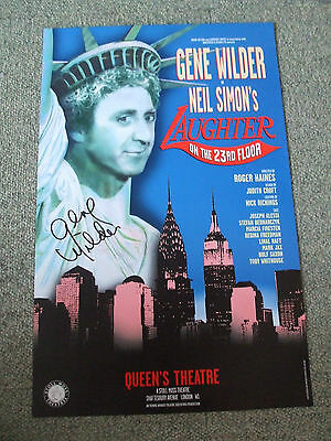 GENE WILDER RIP Signed In-Person Original Theatre Poster  UACC RD#285