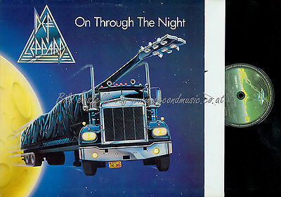 Lp--Def Leppard On Through The Night // Germany  // Ois