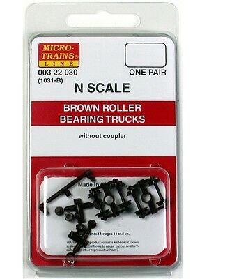 Micro Trains N 00322030 1031-B Brown Roller Bearing Trucks without Coupler