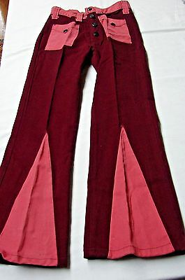 1960s 1970s Vintage TWO TONE BOYS BELL BOTTON JEANS