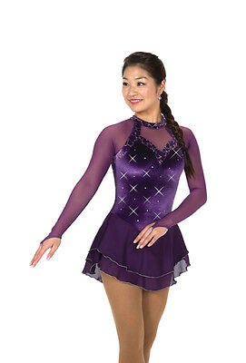 New Figure Skating Competition Dress Jerrys Purple Resplendent  Adult Large 251