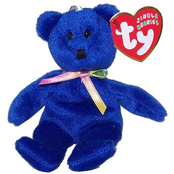 TY Jingle Beanie Baby - CLUBBY the Bear (5 inch) - MWMTs Holiday Ornament Toy