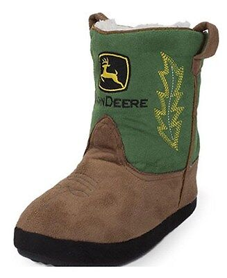 NEW JOHN DEERE Infant and Toddler Boot Slippers Sizes 0-12 Mo 349dc1eb53eb