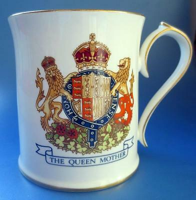 Aynsley Queen Mother Mug 95th Birthday Royal Commemorative Porcelain