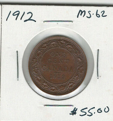 Canada 1912 Large 1 Cent MS62