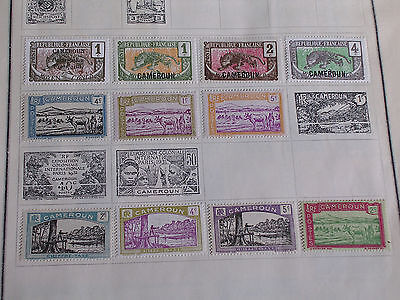 11 Different Cameroun Postage Stamps/4 Are Moyen Congo Overprints/Hinged/Unused