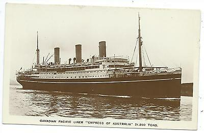 "SHIPPING - Canadian Pacific Liner ""EMPRESS of AUSTRALIA"" Real Photo Postcard"