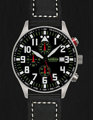 ASTROAVIA XL AIR CRAFT 22L NEW EDITION 6 ZEIGER CHRONOGRAPH 44mm FLIEGERUHR N53L
