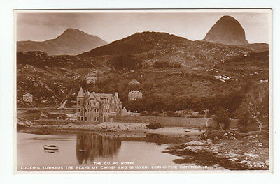 Culag Hotel Canisp & Suilven Lochinver Sutherland Real Photograph JB White A2300