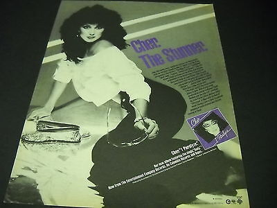 CHER is the STUNNER Exciting 1982 PROMO DISPLAY AD in mint condition