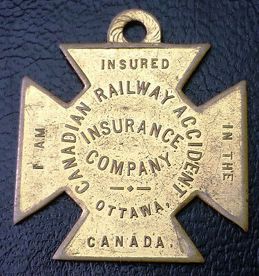 Canadian Railway Accident Insurance Company - In Case of Accident Contact Medal