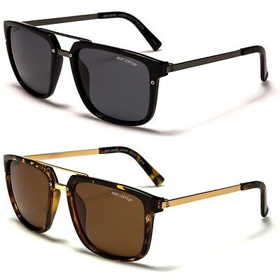 New BeOne Polarized Shades Double Bridge Aviator Men's Sunglasses