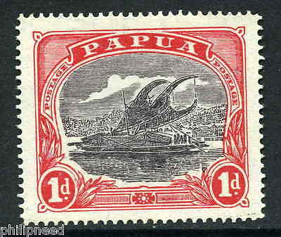 Papua 1916 1d black & carmine-red SG 94 Mint Never Hinged Unmounted [M212