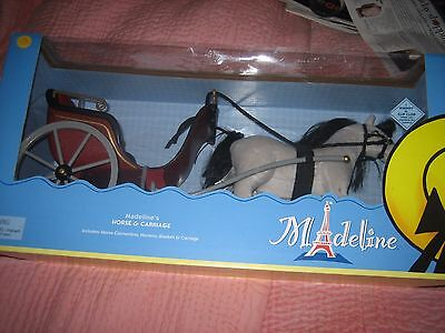 """Madeline Doll Horse & Carriage 24"""" New In Box For Doll Great Holiday Present"""
