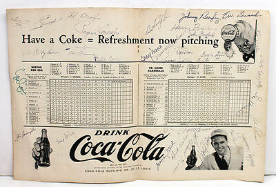 Rogers Hornsby Dizzy Dean Signed Autographed 1946 World Series Program Jsa 11075