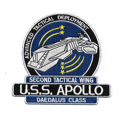 Stargate Sg-1 / Atlantis U.S.S. Apollo Ship Logo Embroidered Patch NEW UNUSED
