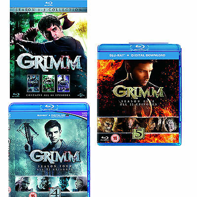 Grimm the complete Season series 1, 2, 3, 4 & 5 Blu ray RB New Sealed