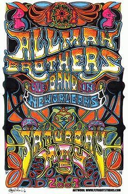 Allman Brothers New Orleans 2007 Concert Poster