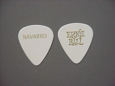 Jane's Addiction guitar pick says Navarro on one side - Ernie Ball on other