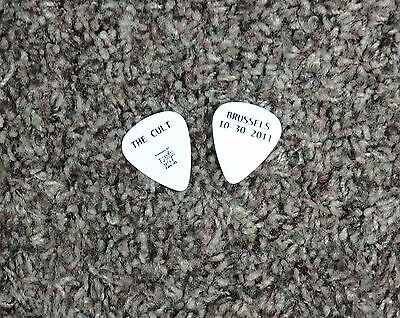 The Cult guitar pick Authentic touring pick Brussels 10-30-2011