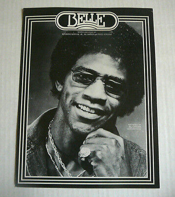 "Al GREEN SHEET MUSIC 1977 ""BELLE"""