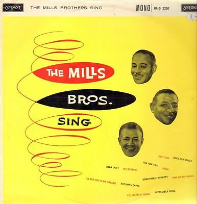 The Mills Brothers Sing London Records Vinyl LP