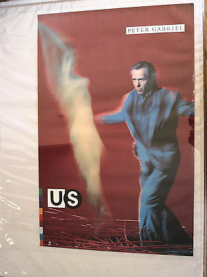 "Peter Gabriel poster Record Company Poster 23"" X 35"" from US !"
