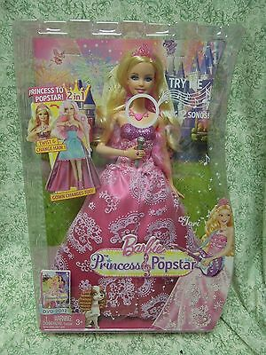 """Barbie Doll: BARBIE' in 'Princess and the Popstar""""  blonde hair  LC-432"""