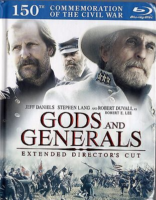 Gods and Generals (Blu-ray Disc, 2011,Ext Dir. Cut 2-Disc Set, ) NEW  CIVIL WAR