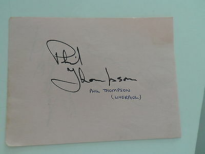 Vintage Football  Autographs1960S/70S.6 Liverpoolsignatures + 6 Mixed On 4 Pages
