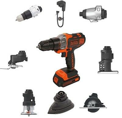 Black + Decker MATRIX 18V Quick Connect Power Tool System + 8 Attachments