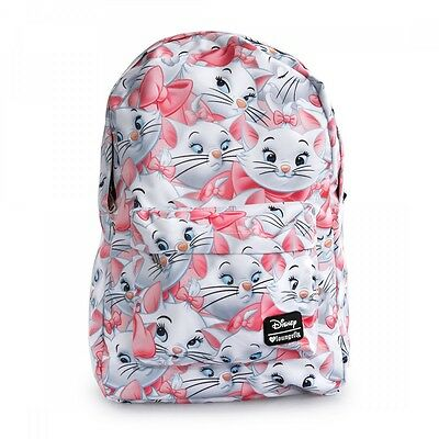 New LOUNGEFLY School Bag DISENY ARISTOCATS MARIE Backpack WHITE PINK CAT KITTEN