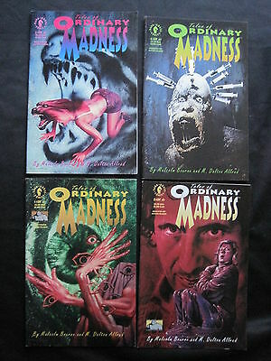 TALES of ORDINARY MADNESS : COMPLETE 4 ISSUE SERIES by BOURNE & ALLRED. DH. 1992