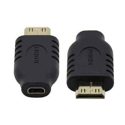 2pcs Type Micro HDMI Socket Female to Type-C Mini HDMI Male Convertor Adapter