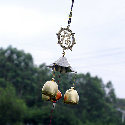 Wind Chimes Copper Chinese Fu Yard Garden Outdoor Living Home Decor Windbell